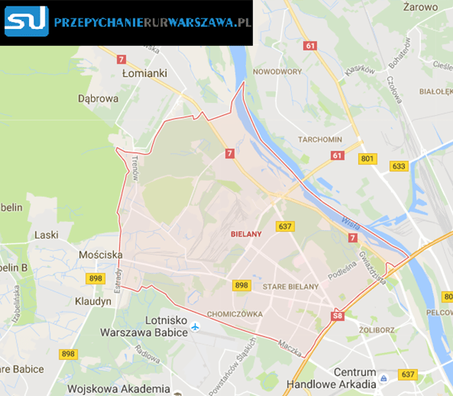 Warszawa Bielany przepychanie rur warszawa