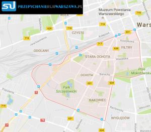 Warszawa Ochota przepychanie rur